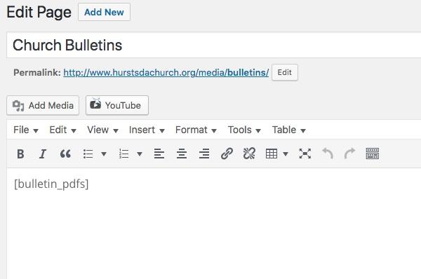 Bulletin PDF Edit Page